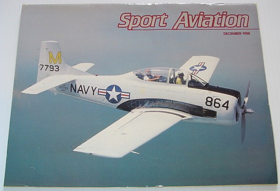 Image for Sport Aviation Magazine - December 1988