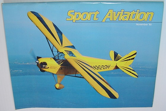 Image for Sport Aviation Magazine - November 1986