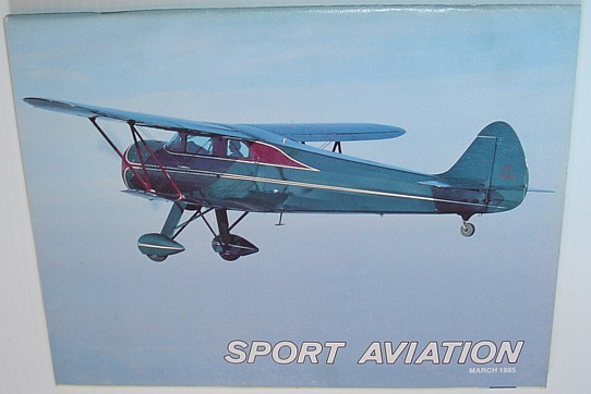 Image for Sport Aviation Magazine - March 1985