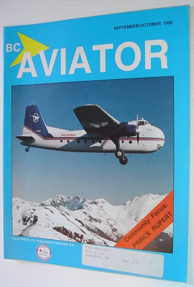 Image for BC (British Columbia) Aviator Magazine: September/October 1992 - Community Focus on Prince Rupert