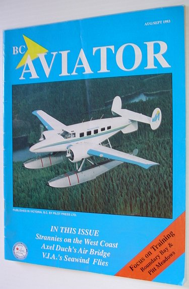 Image for BC (British Columbia) Aviator Magazine: August/September 1993 - Focus on Training at Boundary Bay and Pitt Meadows