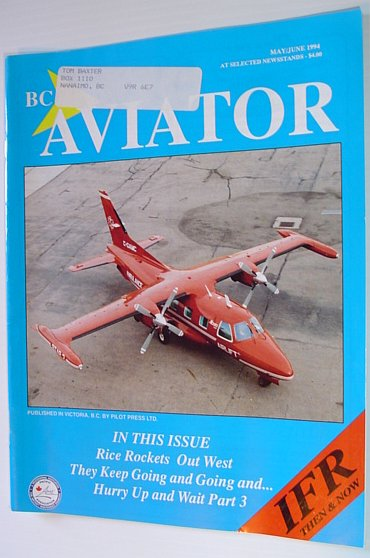 Image for BC (British Columbia) Aviator Magazine: May/June 1994 - IFR Then and Now