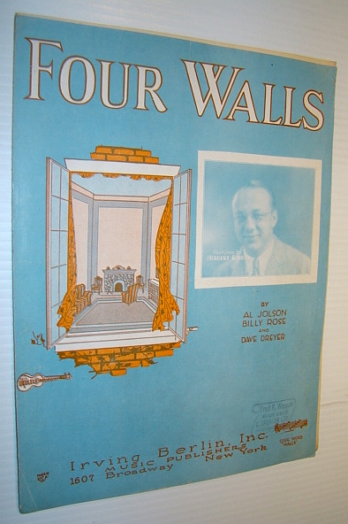 Image for Four Walls: Sheet Music for Voice and Piano with Ukulele Arrangement
