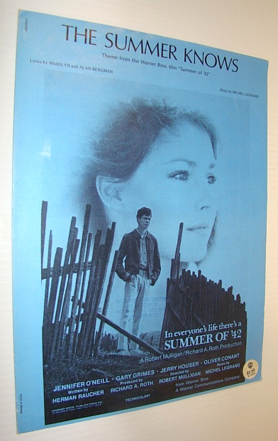 "Image for The Summer Knows - Sheet Music for Piano and Voice (Theme from the Warner Bros. Film ""Summer of '42"""