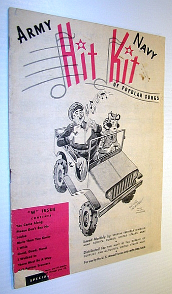 "Image for Army Navy Hit Kit of Popular Songs - ""W"" Issue (Songbook)"