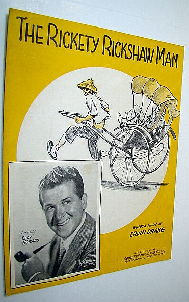 Image for The Rickety Rickshaw Man: Sheet Music for Voice and Piano with Guitar Chords