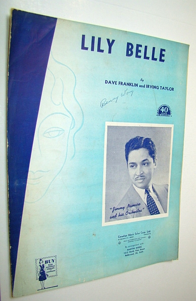 Image for Lily Belle - Sheet Music for Voice and Piano - Cover Photo of Jimmy Namaro