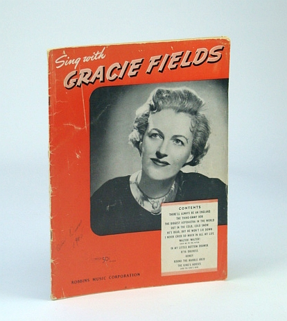 Image for Sing Along with Gracie Fields - Songbook (Song Book) with Sheet Music for Voice and Piano with Guitar Chords