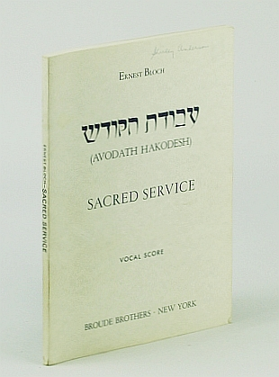 Image for Avodath Hakodesh - Sacred Service: Vocal Score