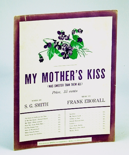 Image for My Mother's Kiss (Was Sweeter Than Them All): Sheet Music for Piano