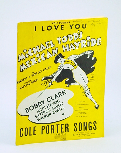 Image for Cole Porter's I Love You Sheet Music