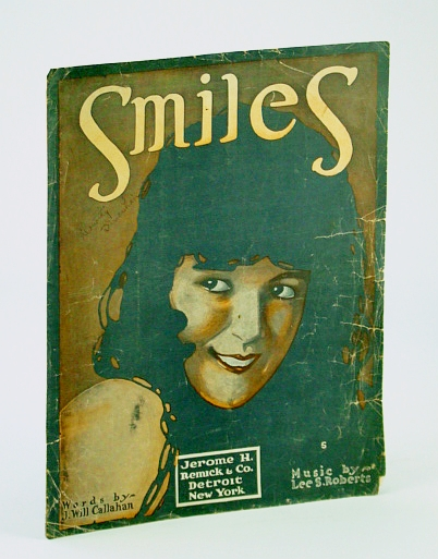 Image for SMILES LEE ROBERTS 1918 SHEET MUSIC FOLDER 436 SHEET MUSIC