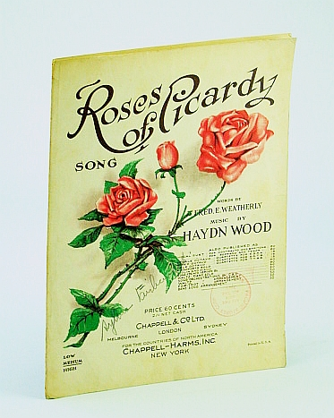Image for 1916 Sheet Music Roses of Picardy Song Fred. E. Weatherly Hayden Wood Chappell - Original Sheet Music