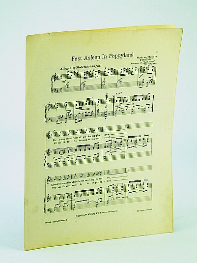 Image for Fast Asleep in Poppyland: Sheet Music for Voice and Piano