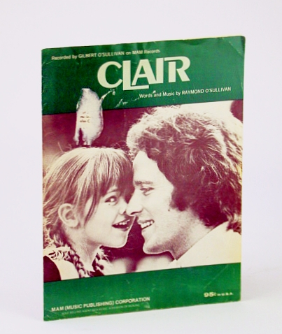 Image for Claire: Gilbert O'Sullivan (Sheet Music)