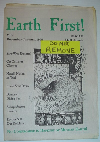 Image for Earth First! - The Radical Environmental Journal: 22 December 1995