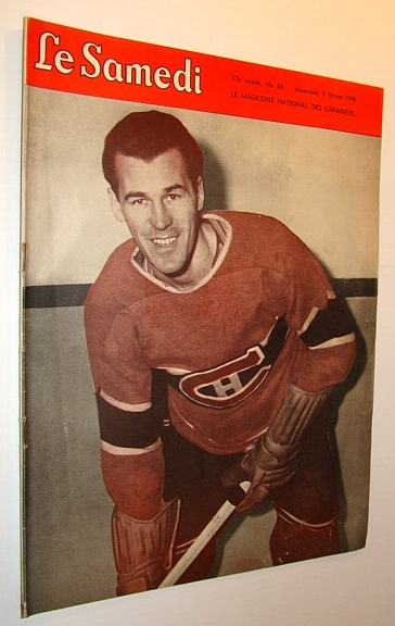 Image for Le Samedi - Le Magazine National Des Canadiens: Cover Photo of Hockey Player Butch Bouchard