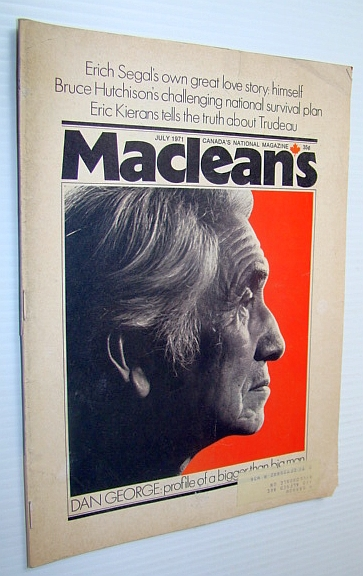 Image for Maclean's - Canada's National Magazine, July 1971 - Chief Dan George Cover Photo