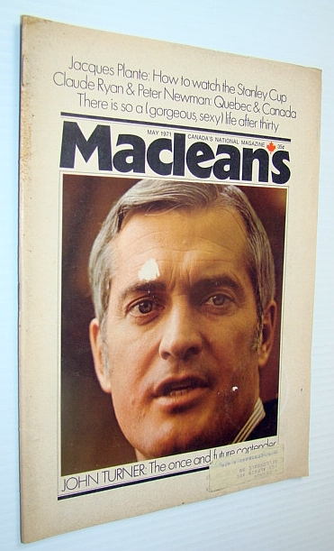 Image for Maclean's - Canada's National Magazine, May 1971 - John Turner Cover Photo / Article on Neil Young
