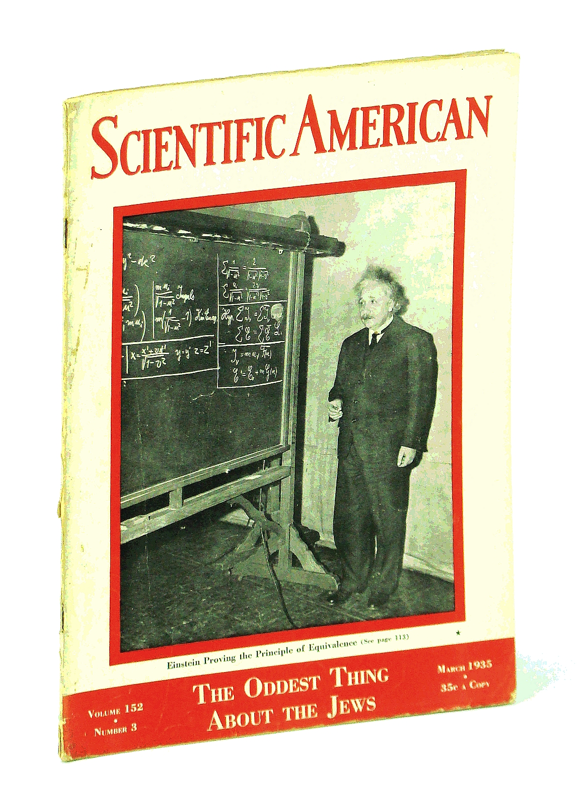Image for Scientific American Magazine, Volume 152, Number 3, March 1935 - Albert Einstein Cover