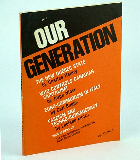 Image for Our Generation, Vol 12, No. 1 - Who Controls Canadian Capitalism?