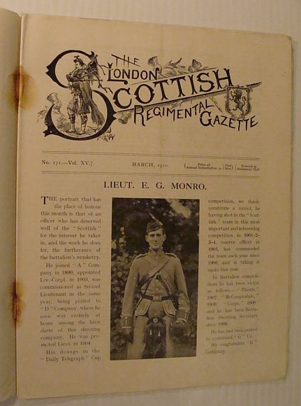Image for The London Scottish Regimental Gazette, No. 171, Vol. XV, March 1910