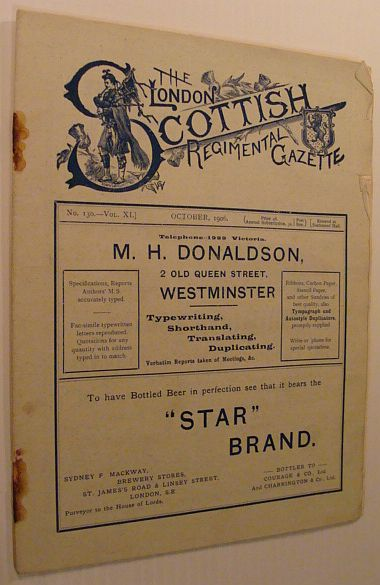 Image for The London Scottish Regimental Gazette: No. 130 - Vol. XI, October 1906