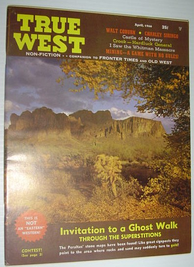 Image for True West Magazine, April 1966 *Invitation to a Ghost Walk*