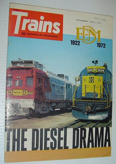 Image for Trains - The Magazine of Railroading: September 1972