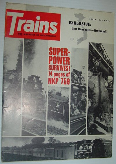 Image for Trains - The Magazine of Railroading: March 1969