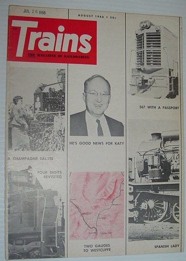 Image for Trains - The Magazine of Railroading: August 1966
