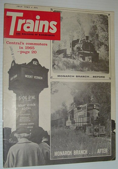 Image for Trains - The Magazine of Railroading: June 1965