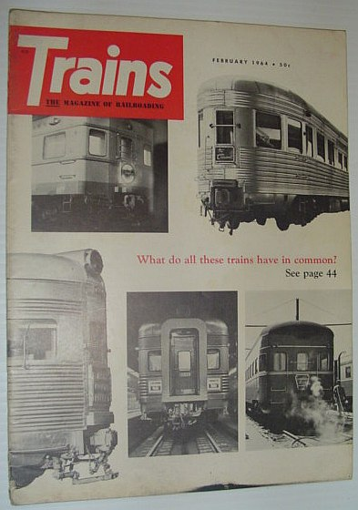 Image for Trains - The Magazine of Railroading: February 1964