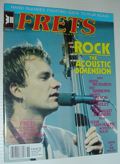 Image for Frets Magazine, November 1983: Includes Article on Hand Injuries and Fighting Back to Play Again