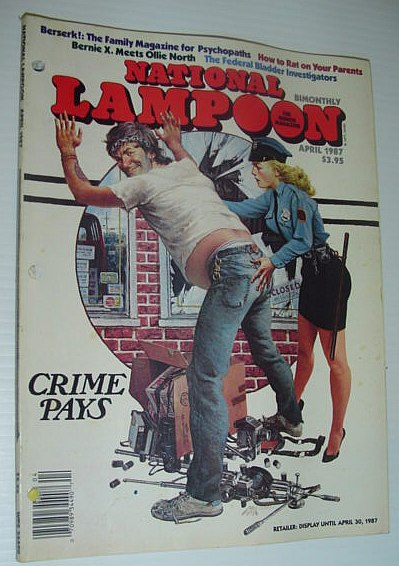 Image for National Lampoon, April 1987 *CRIME PAYS*