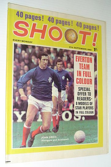 Image for SHOOT! Soccer/Football Magazine, 27 September 1969 *EVERTON TEAM IN FULL COLOUR*