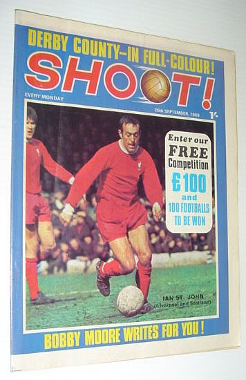 Image for SHOOT! Soccer/Football Magazine, 20 September 1969 *DERBY COUNTY - IN FULL COLOUR*