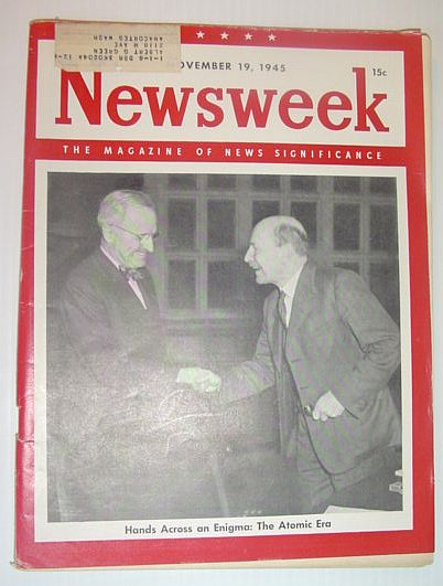 Image for Newsweek Magazine, November 19, 1945 *Cover Photo of Truman with Atlee*