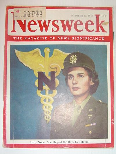 Image for Newsweek Magazine, October 22, 1945 *ARMY NURSES HELPED THE BOYS GET HOME*