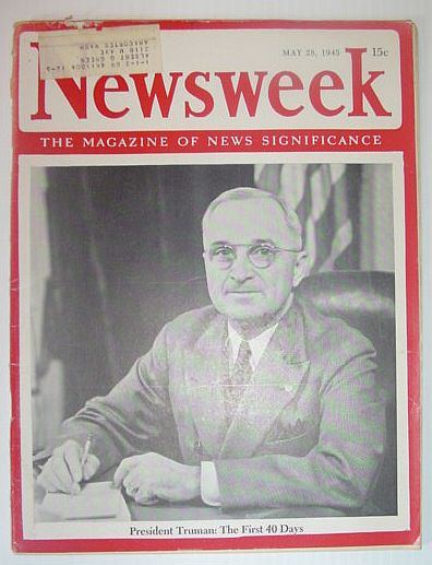 Image for Newsweek Magazine, May 28, 1945 *PRESIDENT TRUMAN - THE FIRST 40 DAYS*