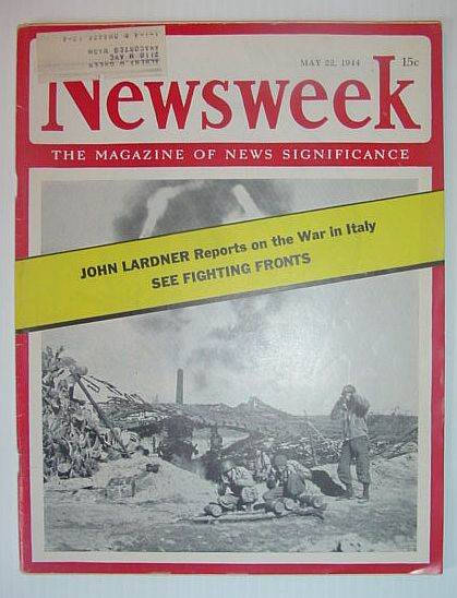 Image for Newsweek Magazine, May 22, 1944 *THE WAR IN ITALY*