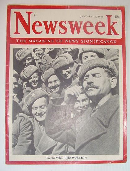 Image for Newsweek Magazine, January 17, 1944 *COVER PHOTO OF CZECHS WHO FIGHT WITH STALIN*