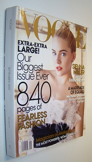 "Image for Vogue Magazine, September 2007 ""The Issue"" - Sienna Miller Cover Photo"