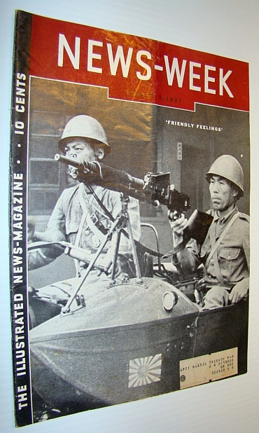 Image for News-Week (Newsweek) Magazine, August 7, 1937 - Cover Photo of Stern Japanese Soldiers