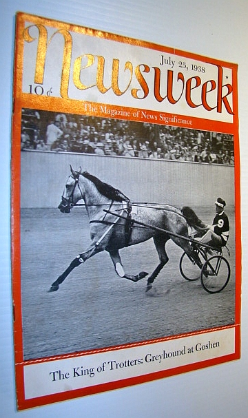 Image for Newsweek Magazine, July 25, 1938 - Cover Photo of Trotter at Goshen, New York