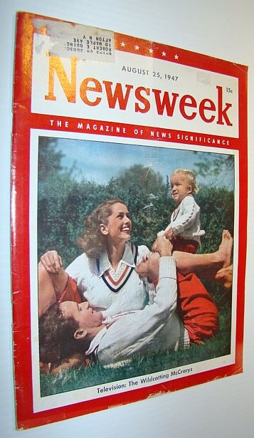 Image for Newsweek Magazine, August 25, 1947 - Cover Photo of The Wildcatting McCrarys