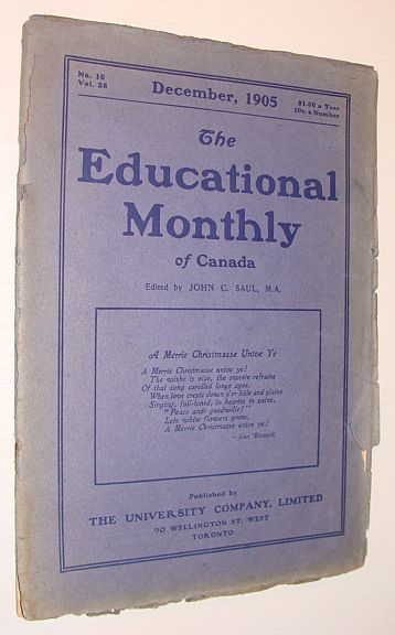 Image for The Educational Monthly of Canada, December 1905, No. 10, Vol. 28