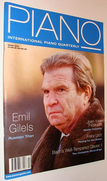 Image for International Piano Magazine, Winter 2001, Emil Gilels Cover Photo