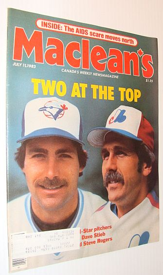 Image for Maclean's Magazine, July 11, 1983 *COVER PHOTOS OF PITCHERS DAVE STEIB AND STEVE ROGERS*