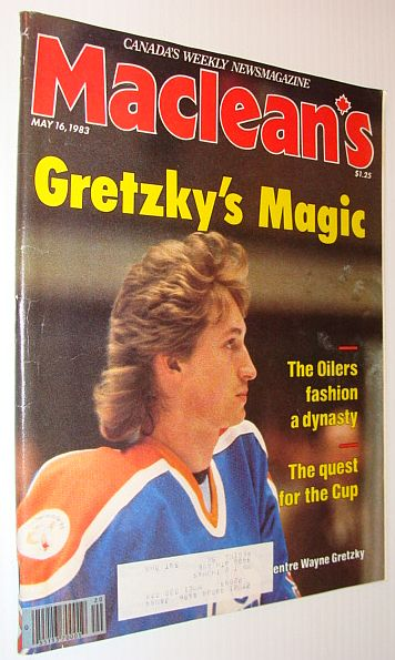 Image for Maclean's Magazine, 16 May 1983 *Gretzky's Magic - Cover Photo*